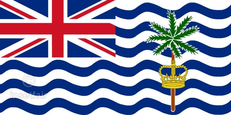 800x400 British Indian Ocean Territory Flag Flash Vector Drawing