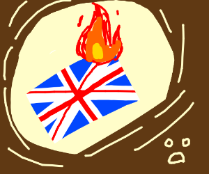 300x250 British Flag Burned