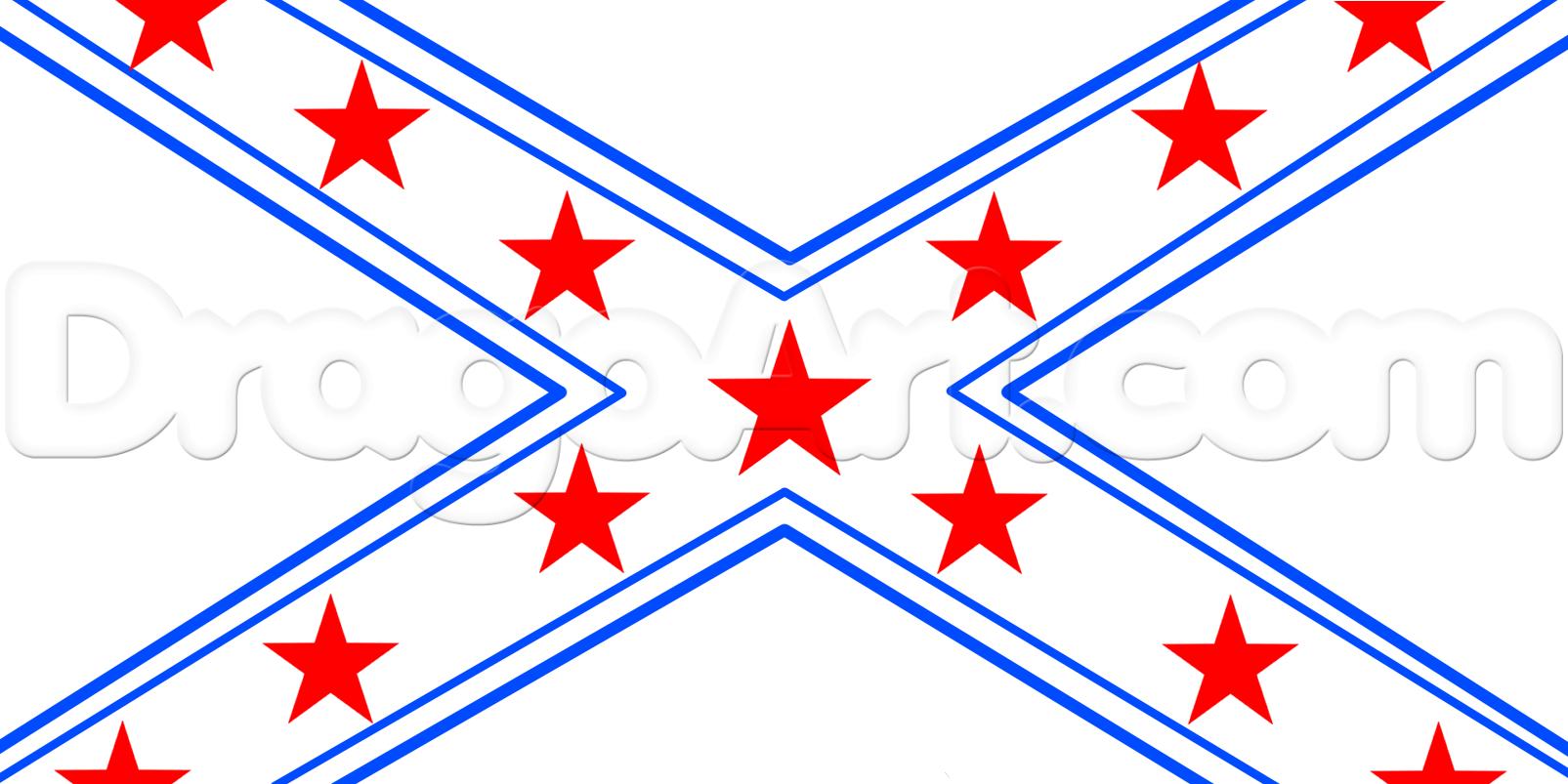 1605x803 Drawing A Rebel Flag, Step