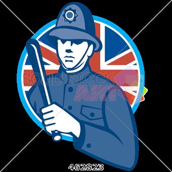 340x340 Stock Illustration Of Retro Cartoon Drawing Of London Bobby
