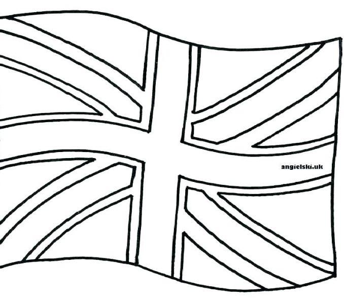 678x600 Uk Flag Coloring