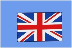 300x200 United Kingdom Flag Coloring