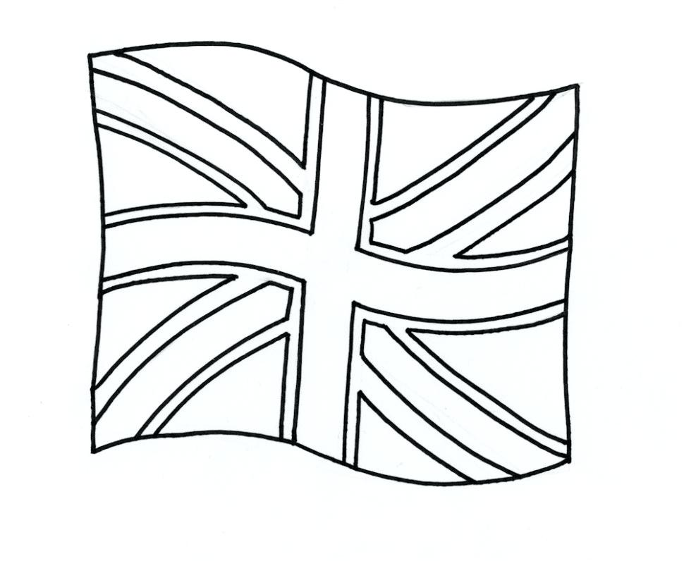 970x796 Uk Flag Coloring Pages