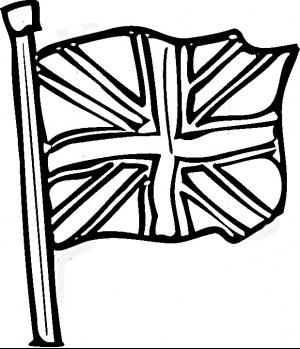 300x349 British Flag Clipart Black And White