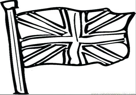 476x333 British Flag Coloring