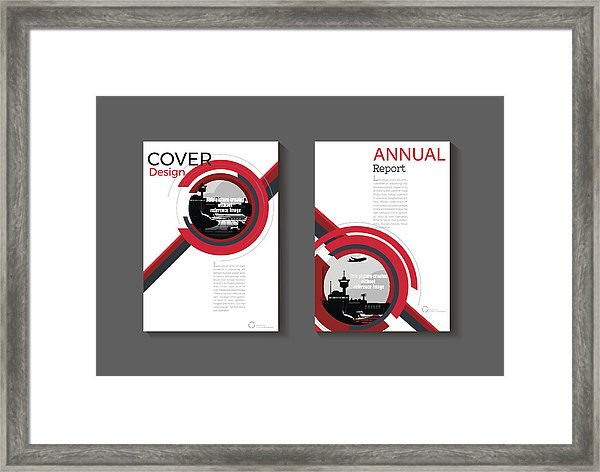 600x472 red cover modern abstract cover book brochure template, design