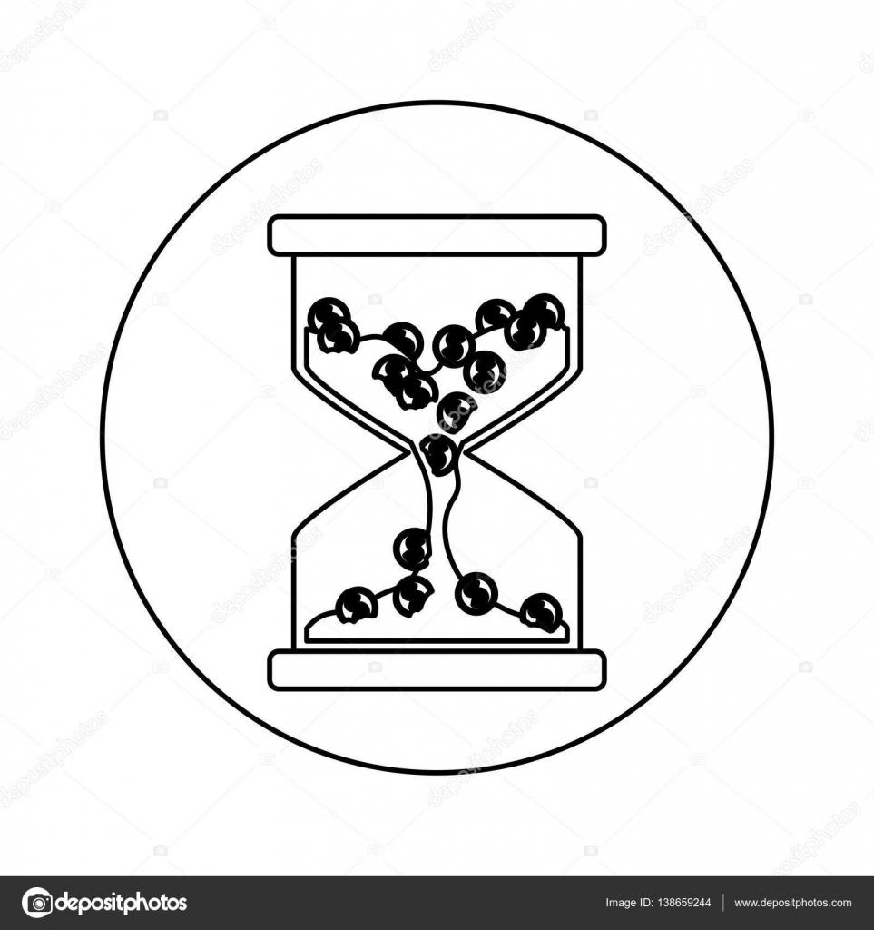 Broken Hourglass Drawing