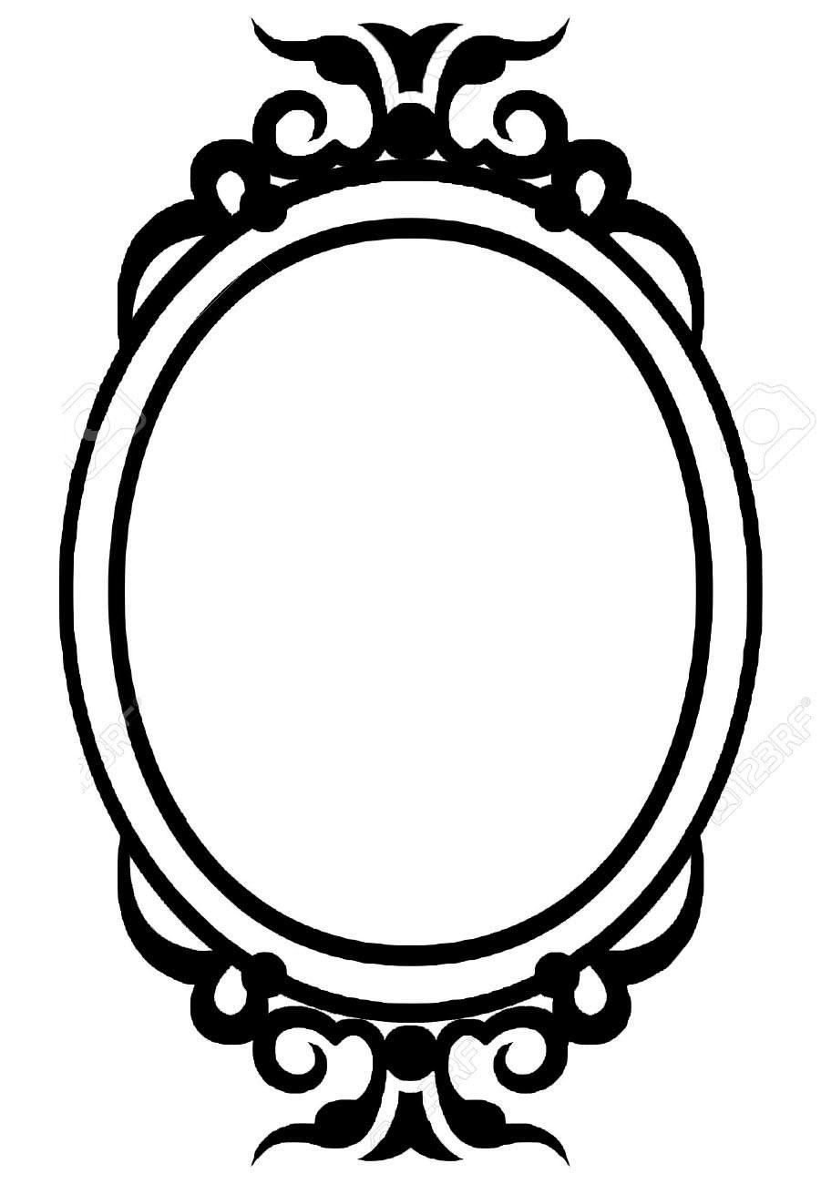 Broken Mirror Reflection Drawing