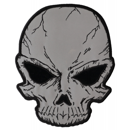 500x500 reflective skull large back patch skull patches thecheapplace