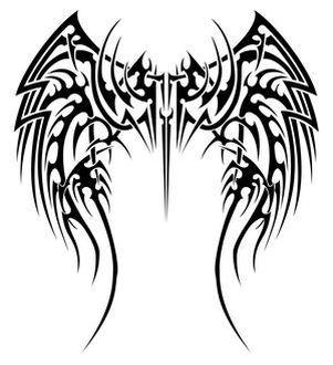 301x330 tribal wings tattoos tattoos, tattoo designs, tribal tattoos