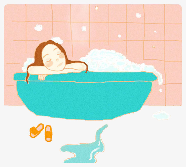 650x583 lovely bubble bath hand drawing, lovely, bathroom, bubble bath png