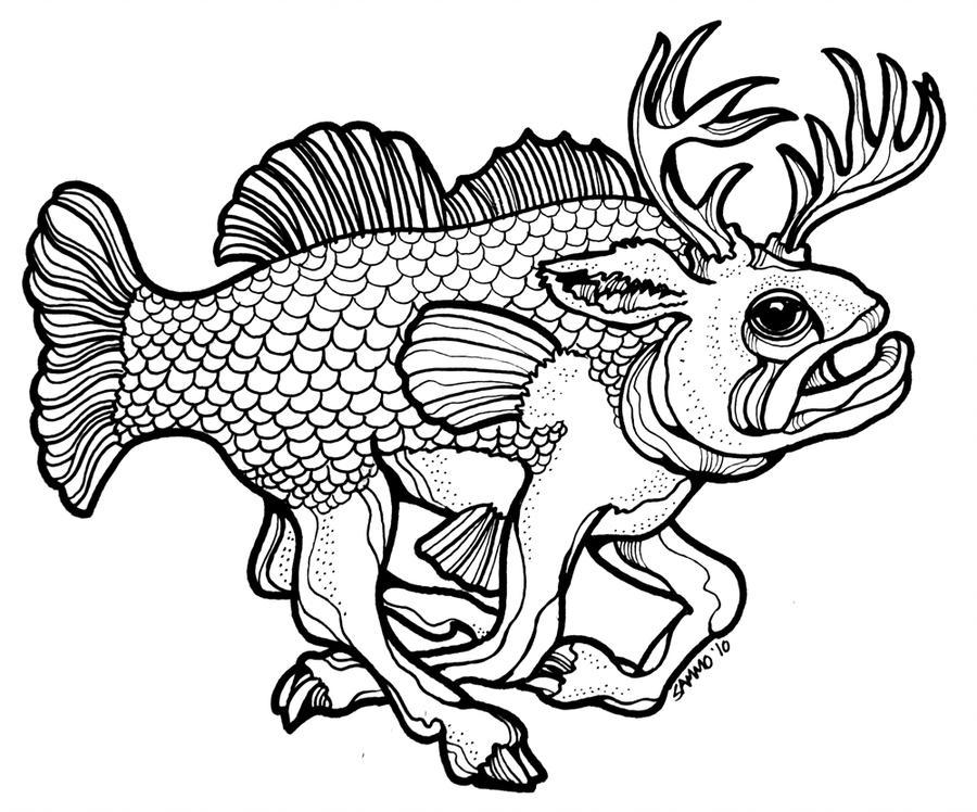 900x748 Buck Bass Drawing Challenge