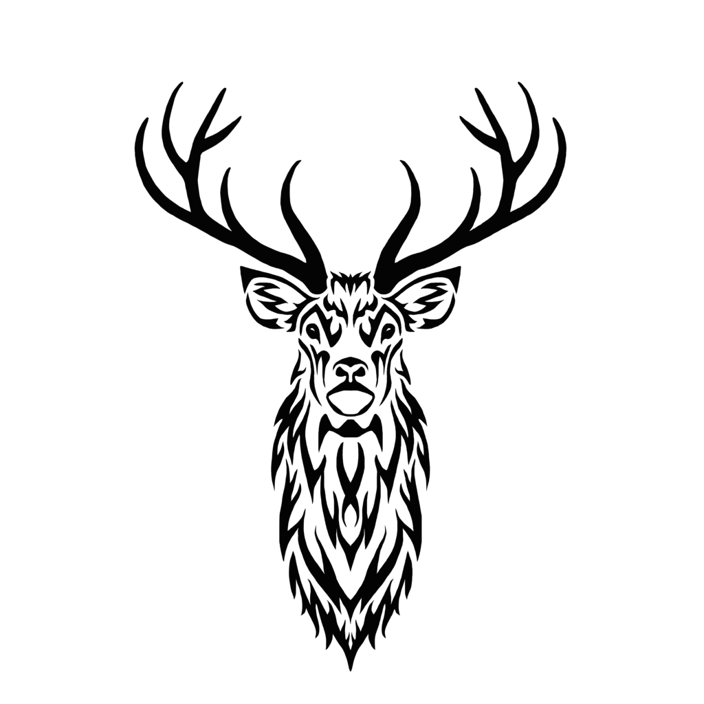 1024x1024 Collection Of Free Buck Drawing Tribal Download On Ui Ex