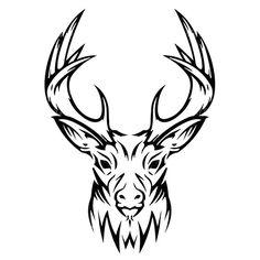 236x236 awesome deer head tattoo images deer, deer head tattoo, drawings