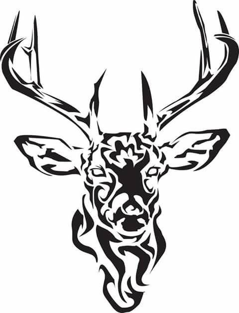 480x628 tribal stag tattoo art deer tattoo, stag tattoo, tribal
