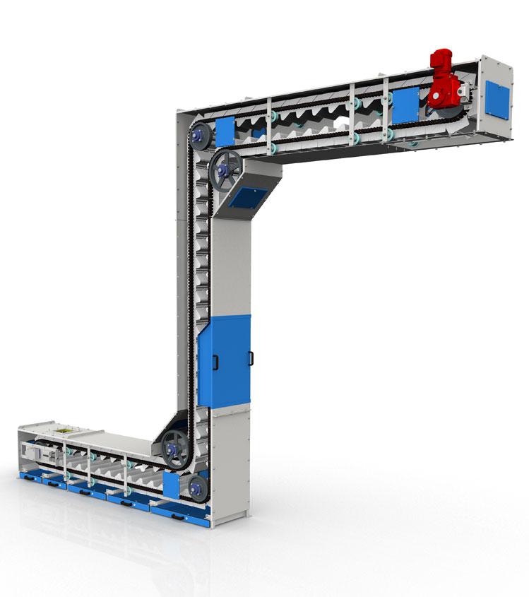 749x845 continuous bucket elevator bucket conveyor systems nerak