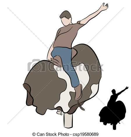450x470 man riding mechanical bull an image of a man riding a mechanical