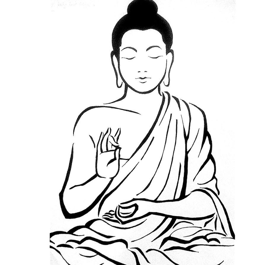 894x894 gautama buddha picture drawing buddha drawing
