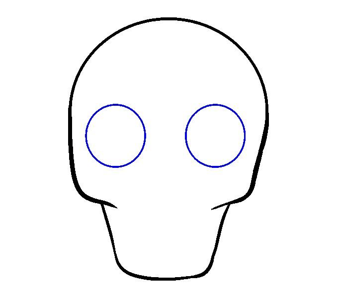 678x600 Skull Drawing Easy