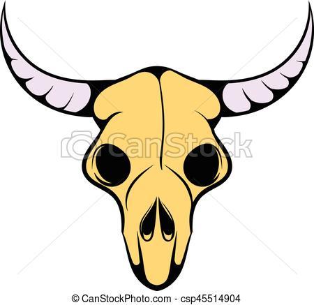 450x437 buffalo skull icon, icon cartoon buffalo skull icon n