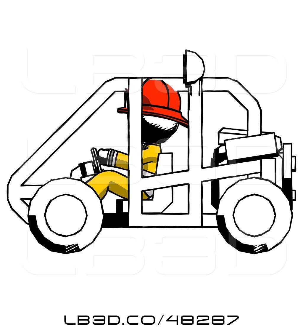 1024x1124 illustration of ink fireman fireman guy riding sports buggy side