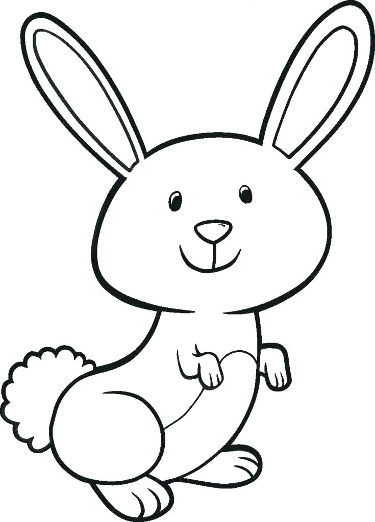 735x1024 easy to draw bunny easy bunny drawings easy bunny drawing new