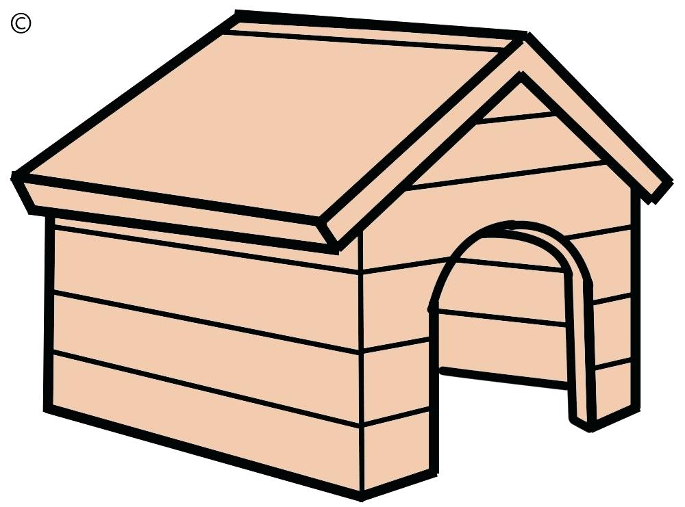 1000x741 dog house drawing large size of how to draw a simple dog house
