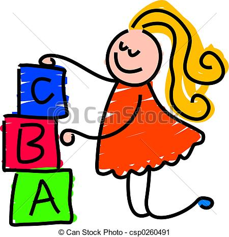 450x466 building blocks little girl building a tower with toy blocks