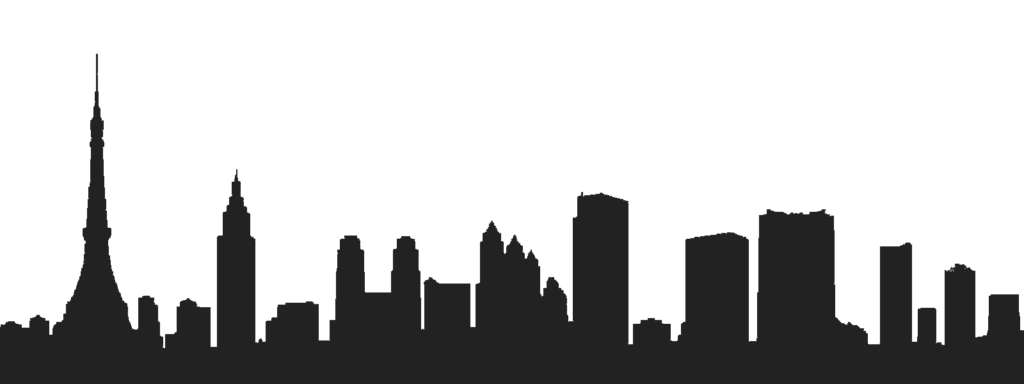 1024x384 Tokyo Drawing Skyline Icon For Free Download