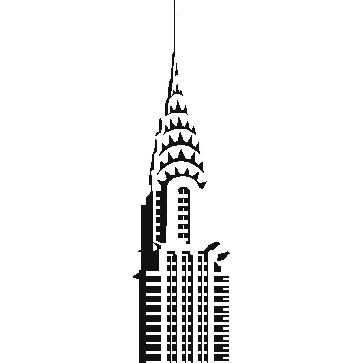 1200x1200 Chrysler Building Drawing