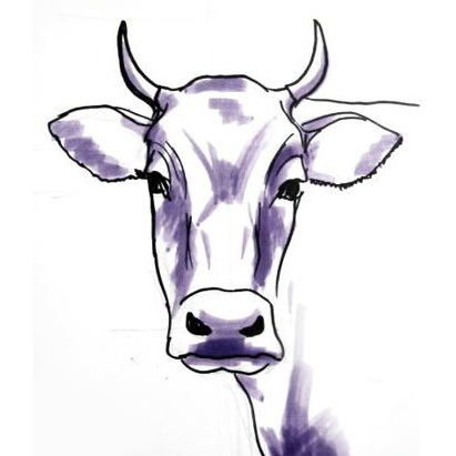 411x411 bull head drawing projects cow drawing, cow, cow face