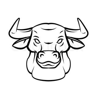 320x308 How To Draw A Bull Head Step