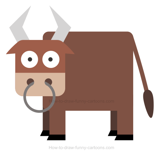 520x493 How To Draw A Bull Icon