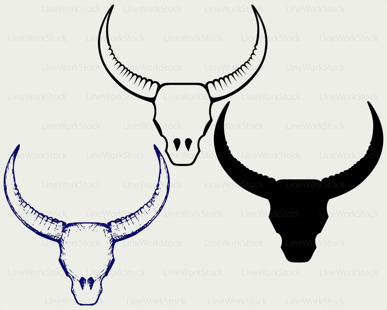 1500x1200 Skull Bull Svgull Horns Clipartskull Svghorns Etsy