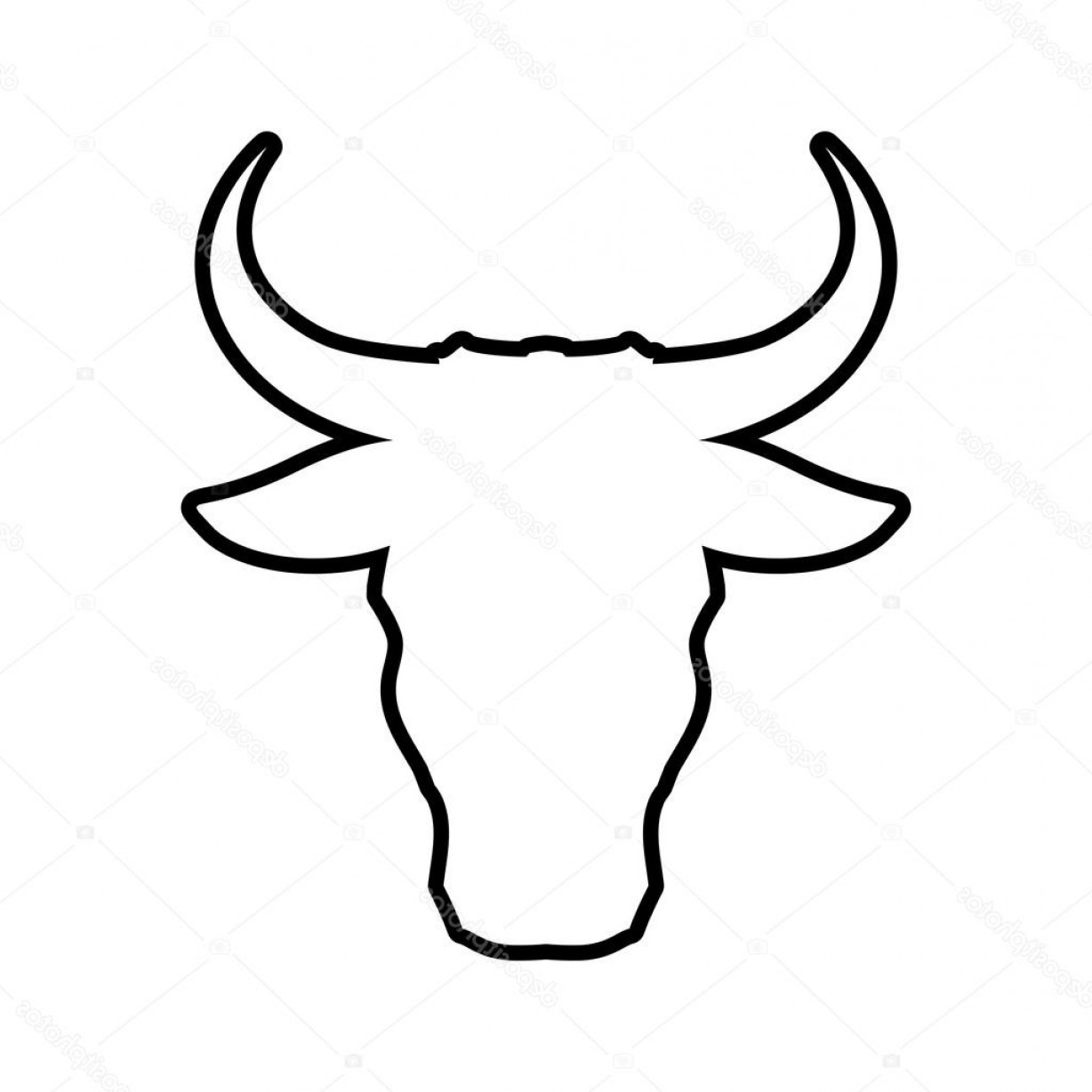 1228x1228 Stock Illustration Bull Horn Animal Silhouette Farm Soidergi