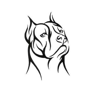 375x375 tribal pitbull tattoo design metal art tattoo designs, tattoo