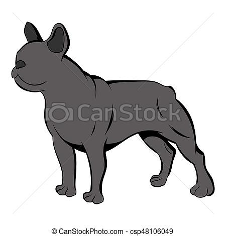 450x470 french bulldog icon cartoon french bulldog icon in cartoon