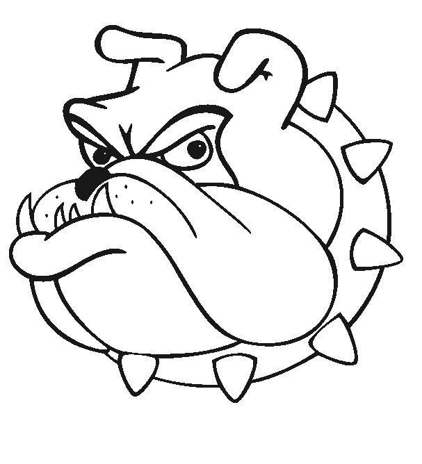 607x668 bulldog cartoon drawing georgia bulldog cartoon, bulldog