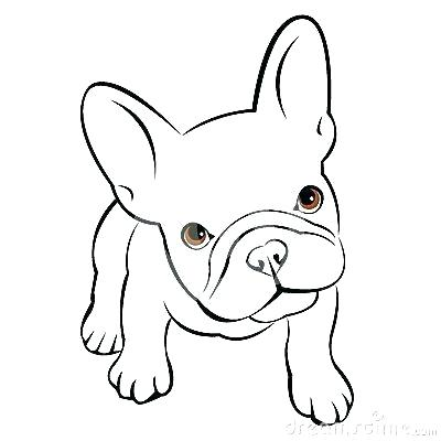 400x400 Draw A Puppy Face Puppy Drawings Bulldog Dog Animal French Vector