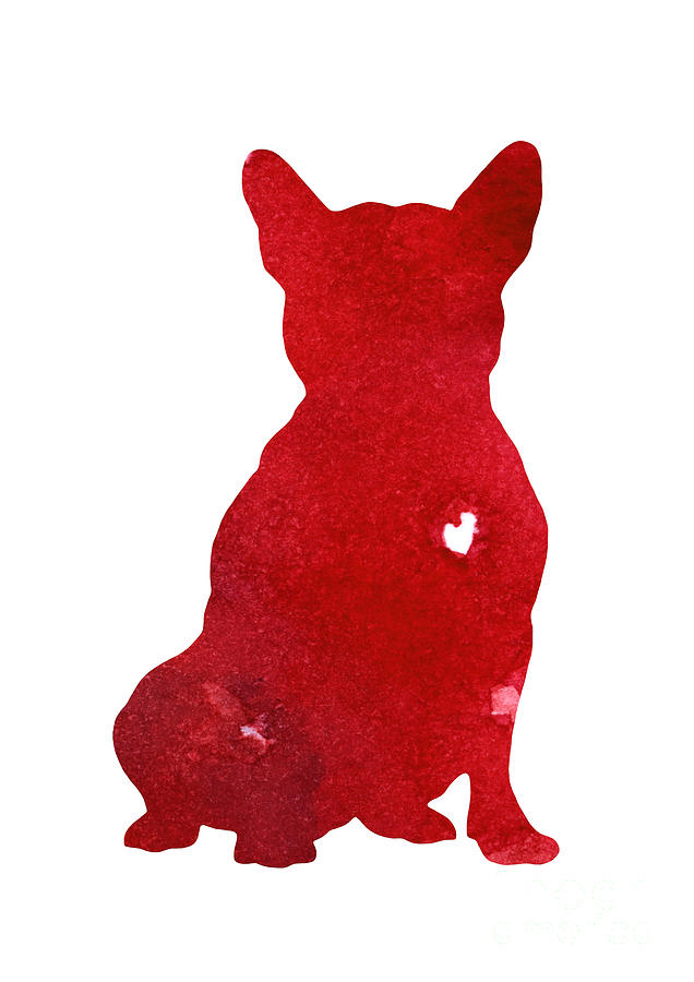 636x900 Red French Bulldog Drawing Home Decor Painting