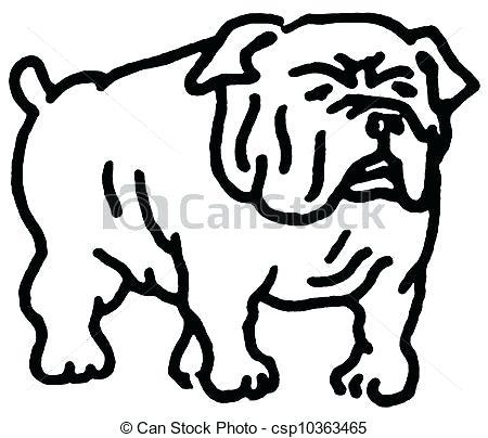 450x404 Drawing Of A Bulldog