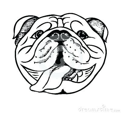 400x375 Drawing Of Bulldog