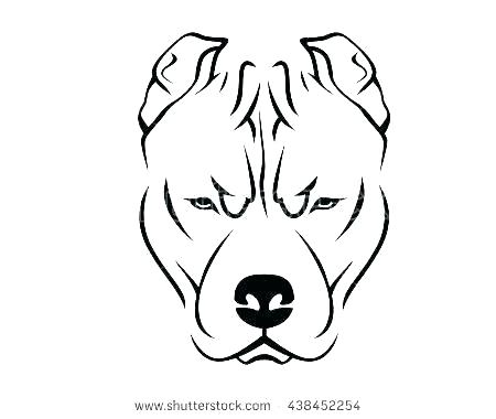 450x380 Bulldog Face Drawing Dog Face Coloring
