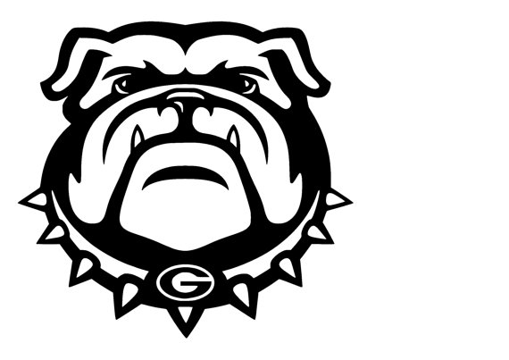 570x403 English Bulldog Clipart Black And White