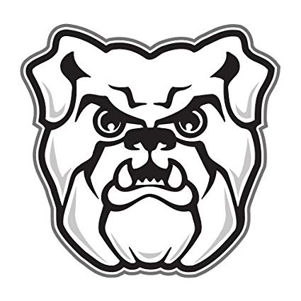425x425 butler medium magnet 'bulldog head' sports outdoors