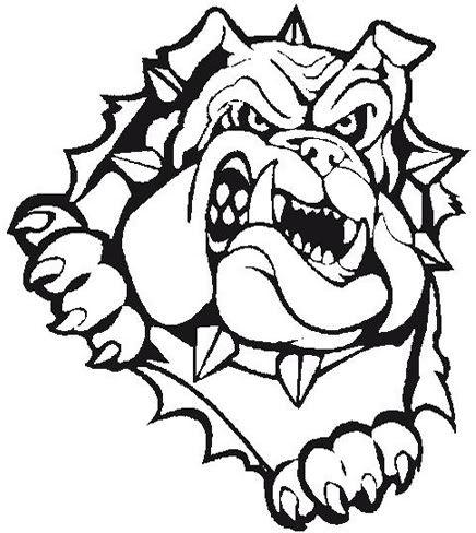 436x488 bulldog baseball embroidery bulldog clipart, bulldog images