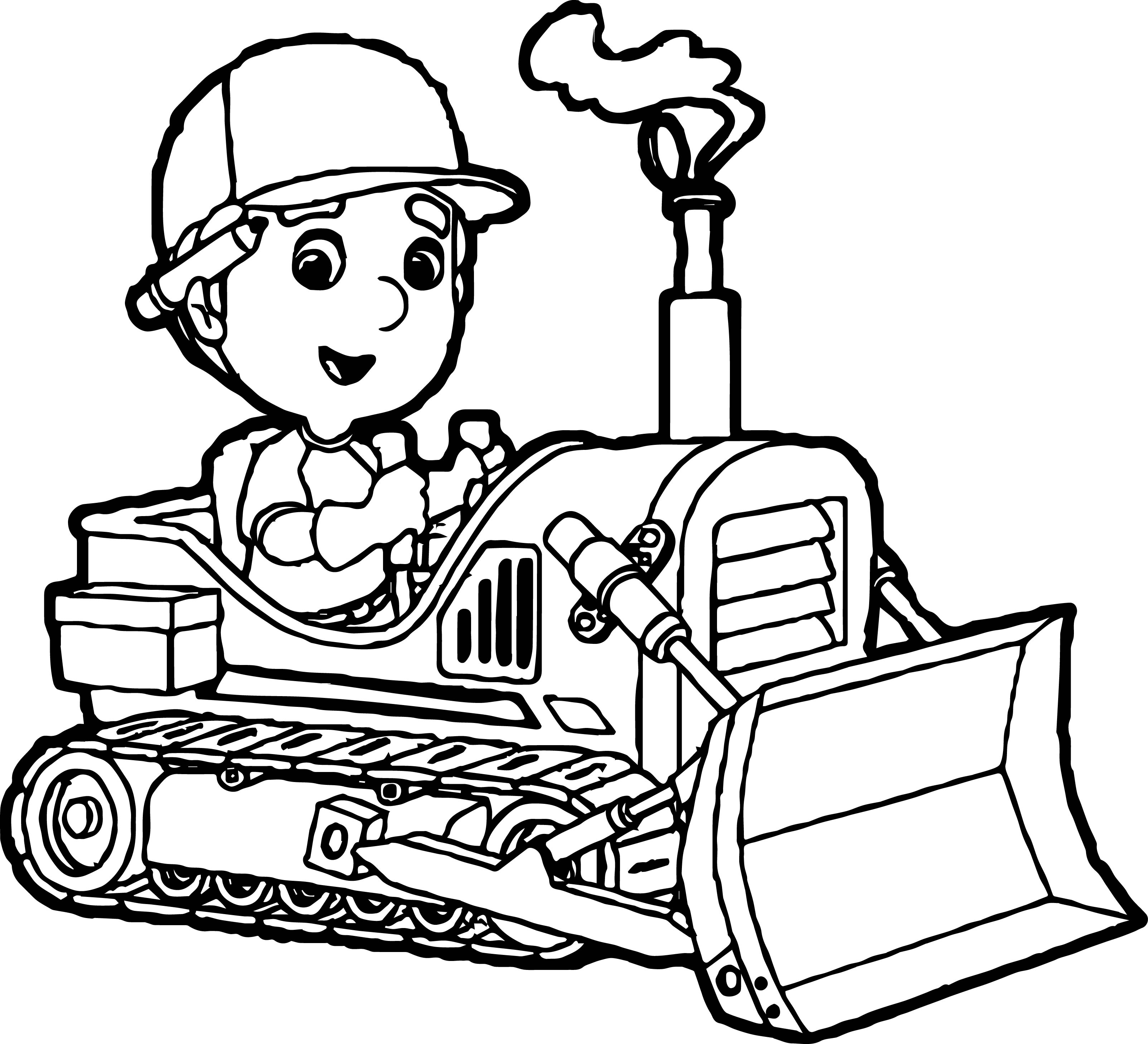 Bulldozer Drawing | Free download on ClipArtMag