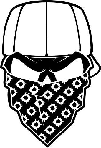 343x500 gangster mask bullet holes skull vinyl decal sticker