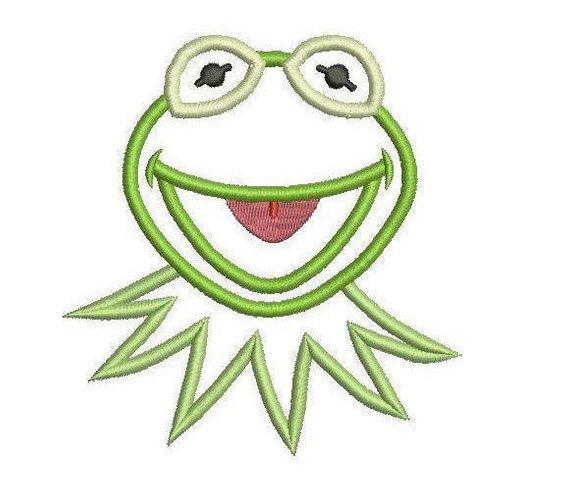 570x493 sizes kermit the frog applique design kermit applique etsy