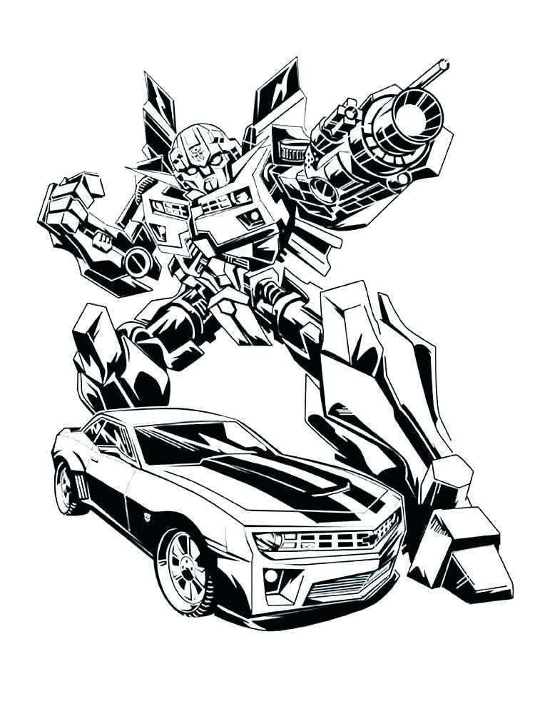 750x1000 Bumblebee Transformer Coloring